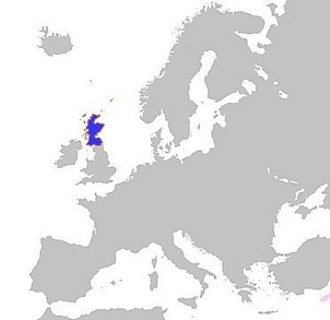 Map Of Scotland In Europe. Scotland In Europe